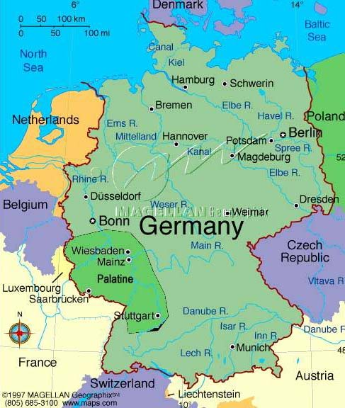 Map Of Germany In 1800.Map Of Palatine